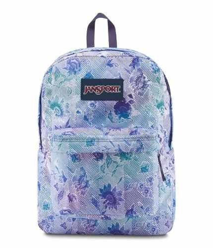 Mochila Jansport Superbreak Striped Floral Js00 T501-41g