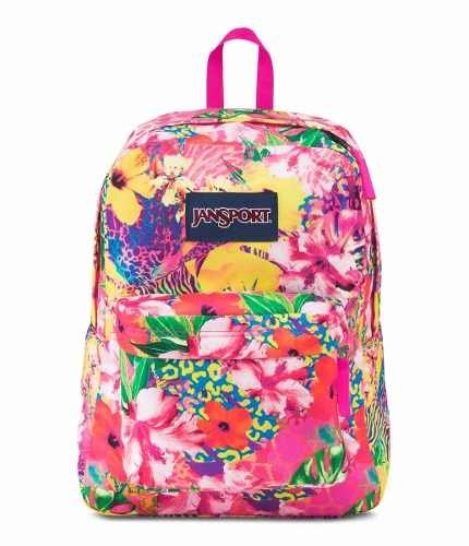 Mochila Jansport Superbreak Tropical Mania Js00 T501-34b