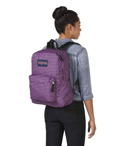 Mochila Jansport Superbreak Urban Optical Purp Js00 T501-3g6 en internet
