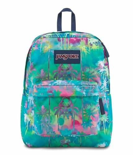 Mochila Jansport Superbreak Electric Palm Js00 T501-40b