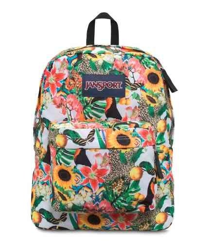 Mochila Jansport Superbreak Multi Jungle Jam Js00 T5010wr