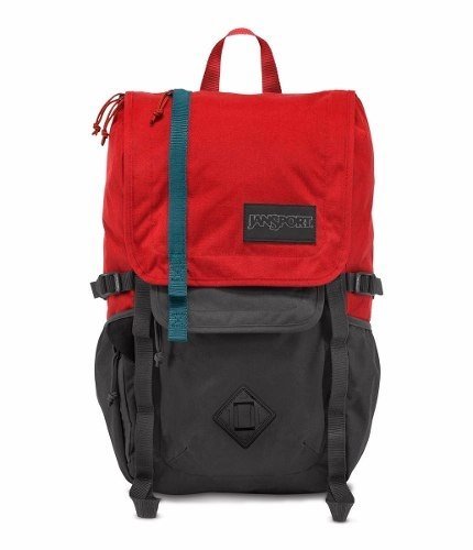 Mochila Jansport Hatchet Forge Grey Red Tape Js00 T52s-0uy