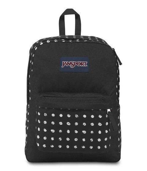 Mochila Jansport Superbreak Black Sketch Dot Js00 T501 4j6