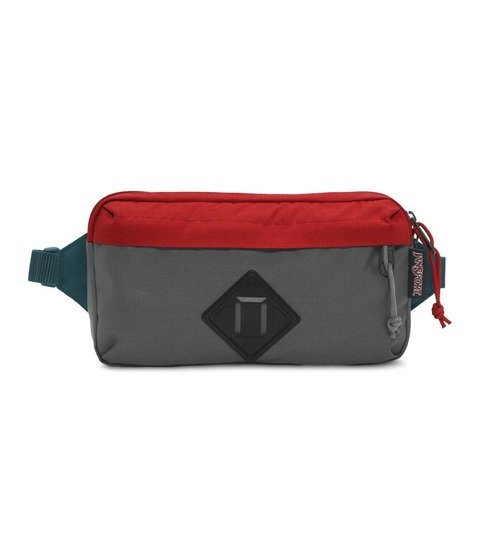 Riñonera Jansport Waisted Forge Grey/red Tape Js00 T81b0uy