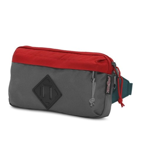 Riñonera Jansport Waisted Forge Grey/red Tape Js00 T81b0uy - JanSport Argentina