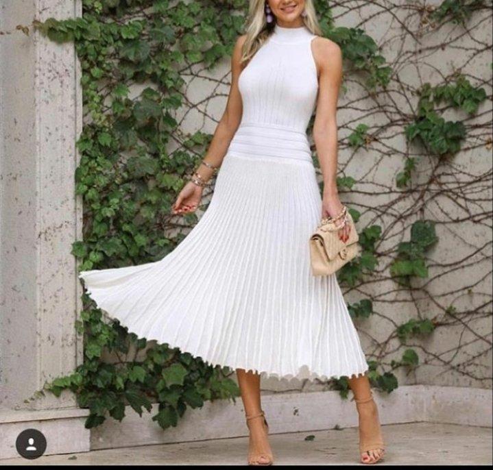 4a39dde53 Vestido midi branco - Comprar em Lesuel