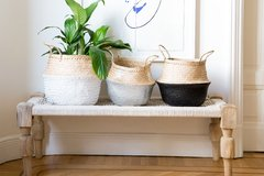 Seagrass basket  blanco grande en internet