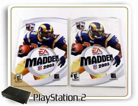 Manual Madden Nfl 2003 Original Playstation 2 PS2 - comprar online