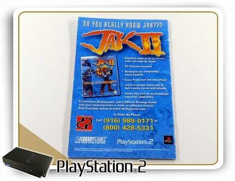 Manual Jak 2 Original Playstation 2 PS2 - comprar online