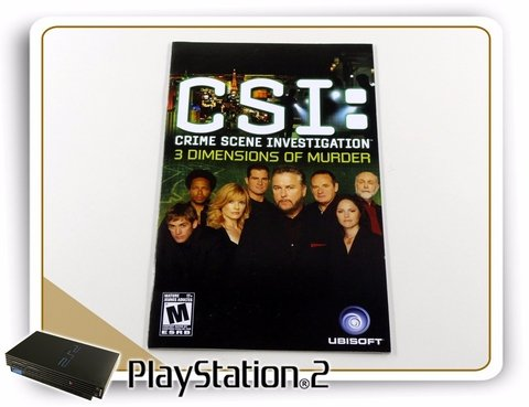Manual Csi 3 Dimmensions Original Playstation 2 PS2