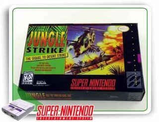 Caixa Jungle Strike Com Berço Super Nintendo Snes