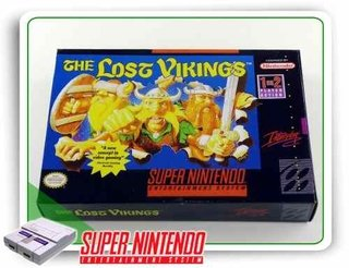Caixa The Lost Vikings Com Berço Super Nintendo Snes