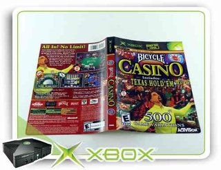 Encarte Bicycle Casino Original Xbox Clássico