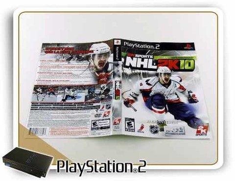 Encarte Nhl 2k10 Original Playstation 2 PS2