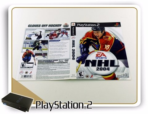Encarte Nhl 2004 Original Playstation 2 PS2