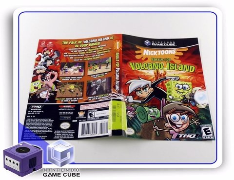 Gc Encarte Nicktoons Battle For Volcano Original Gamecube