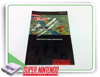 Manual Wings 2 Aces High Original Super Nintendo Snes