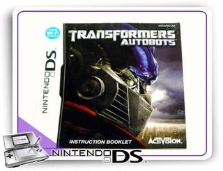 Manual Transformers Autobots Ds Original Nintendo Ds