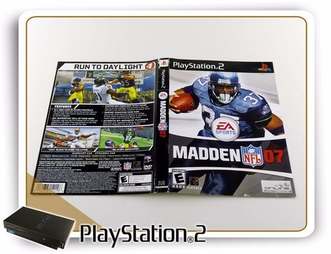 Encarte Madden Nfl 07 Original Playstation 2 PS2