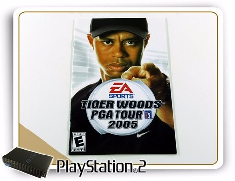 Manual Tiger Woods Pga Tour 2005 Original Playstation 2 PS2