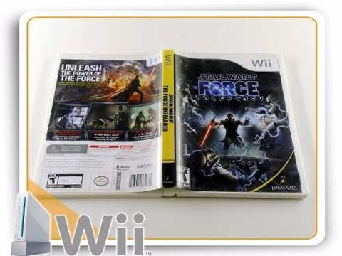 Wii Star Wars Force Unleashed Original Nintendo Wii - comprar online
