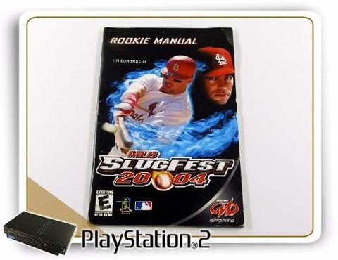 Manual Mlb Slugfest 2004 Original Playstation 2 PS2