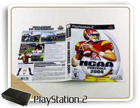 Encarte Ncaa Football 2004 Original Playstation 2 PS2