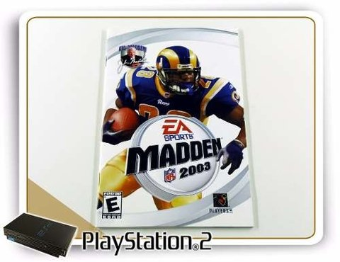 Manual Madden Nfl 2003 Original Playstation 2 PS2