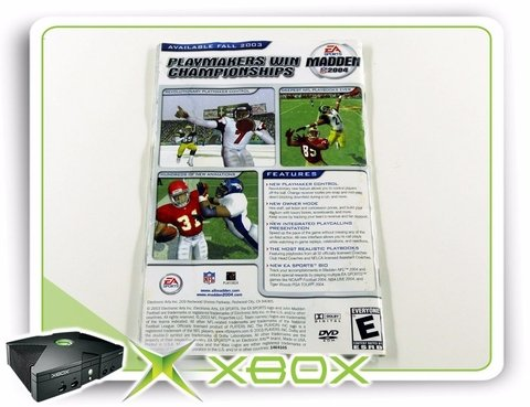 Manual Ncaa Football 2004 Original Xbox Clássico - comprar online
