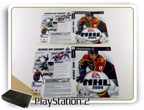 Encarte Nhl 2004 Original Playstation 2 PS2 - comprar online