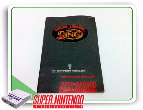 Manual Boxing Legends Of The Ring Original Snes