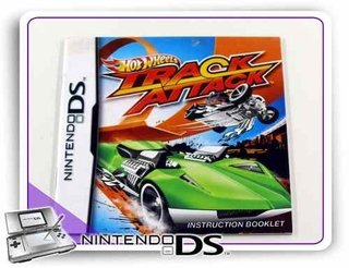 Manual Hot Wheels Track Attack Ds Original Nintendo Ds