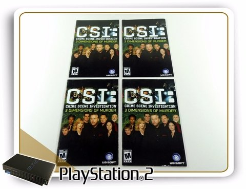 Manual Csi 3 Dimmensions Original Playstation 2 PS2 - comprar online