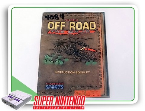 Manual Super Off Road The Baja Original Super Nintendo Snes