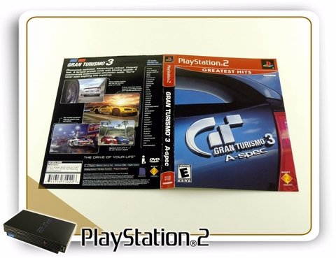 Encarte Gran Turismo 3 A-spec Greatest Hits Original PS2