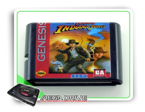 Young Indiana Jones Sega Mega Drive / Genesis - Novo