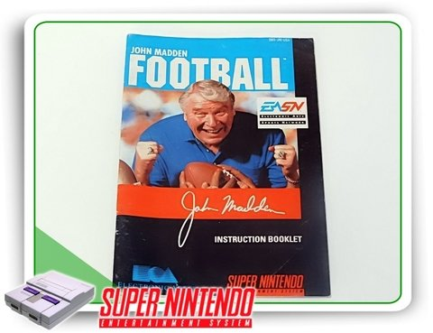 Manual John Madden Football Original Super Nintendo Snes