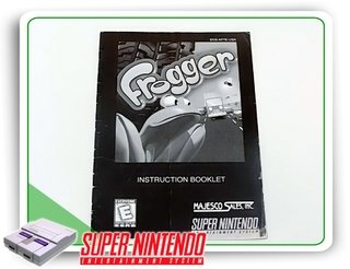 Manual Frogger Original Super Nintendo Snes