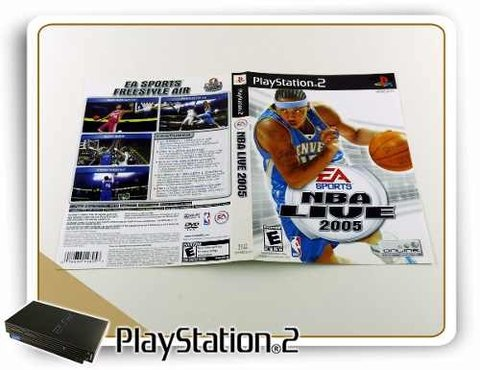 Encarte Nba Live 2005 Original Playstation 2 PS2