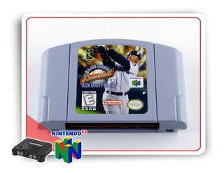 Ken Griffeys Jr Major League Baseball N64 Nintendo 64