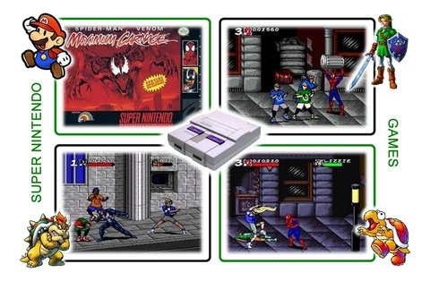 Imagem do Spider-man & Venom Maximum Carnage Super Nintendo Snes -novo