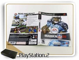 Encarte E Manual Madden Nfl 08 Original Playstation 2 Ps2