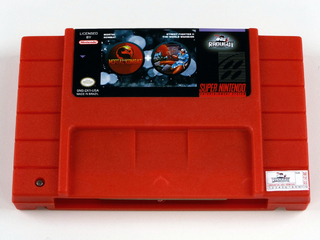 Cartucho 2 Em 1 - Mortal Kombat E Street Fighter 2 Snes