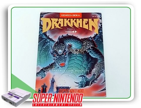 Manual Drakkhen Original Super Nintendo Snes