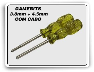 Kit Chaves Gamebit 3.8mm + 4.5mm Com Cabo Mega Snes N64