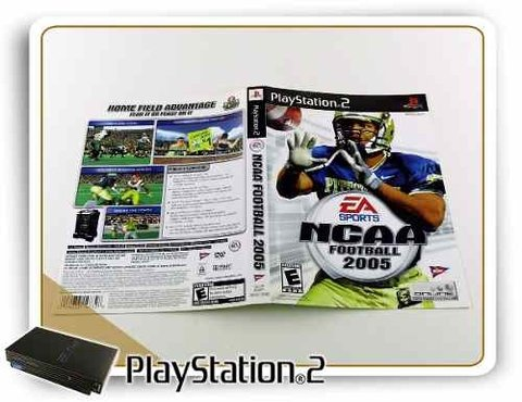 Encarte Ncaa Football 2005 Original Playstation 2 PS2