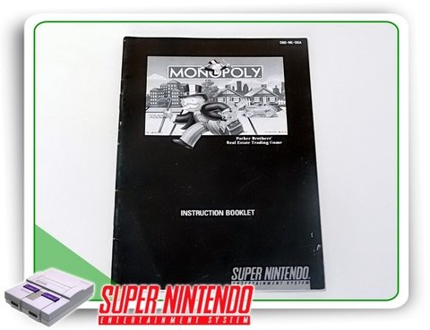 Manual Monopoly Original Super Nintendo Snes