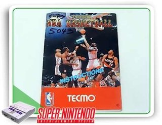 Manual Tecmo Nba Basketball Original Super Nintendo Snes
