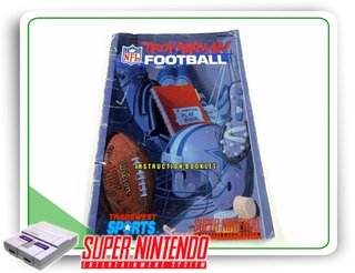 Manual Troy Aikman Football Original Super Nintendo Snes