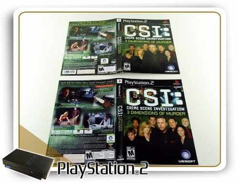 Encarte Csi 3 Dimmensions Original Playstation 2 PS2 - comprar online